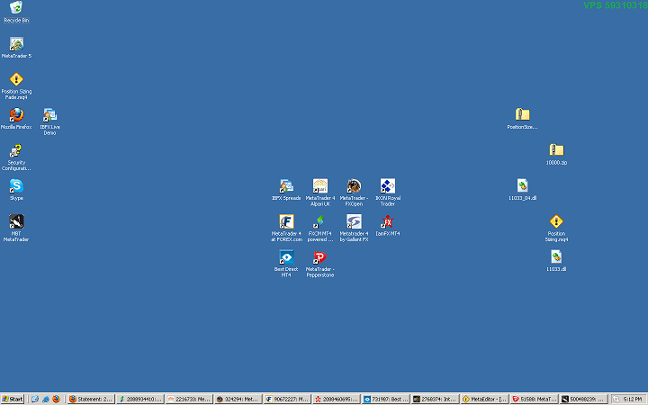 Windows 2003 Desktop