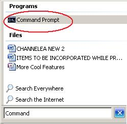Select the Command Prompt