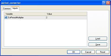 MetaTrader Scripts Inputs