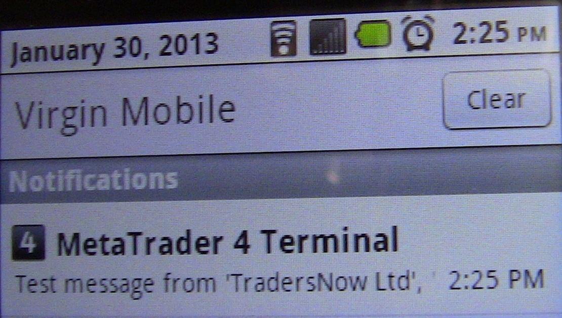 Mt4 Push Notifications Autochartist Trader